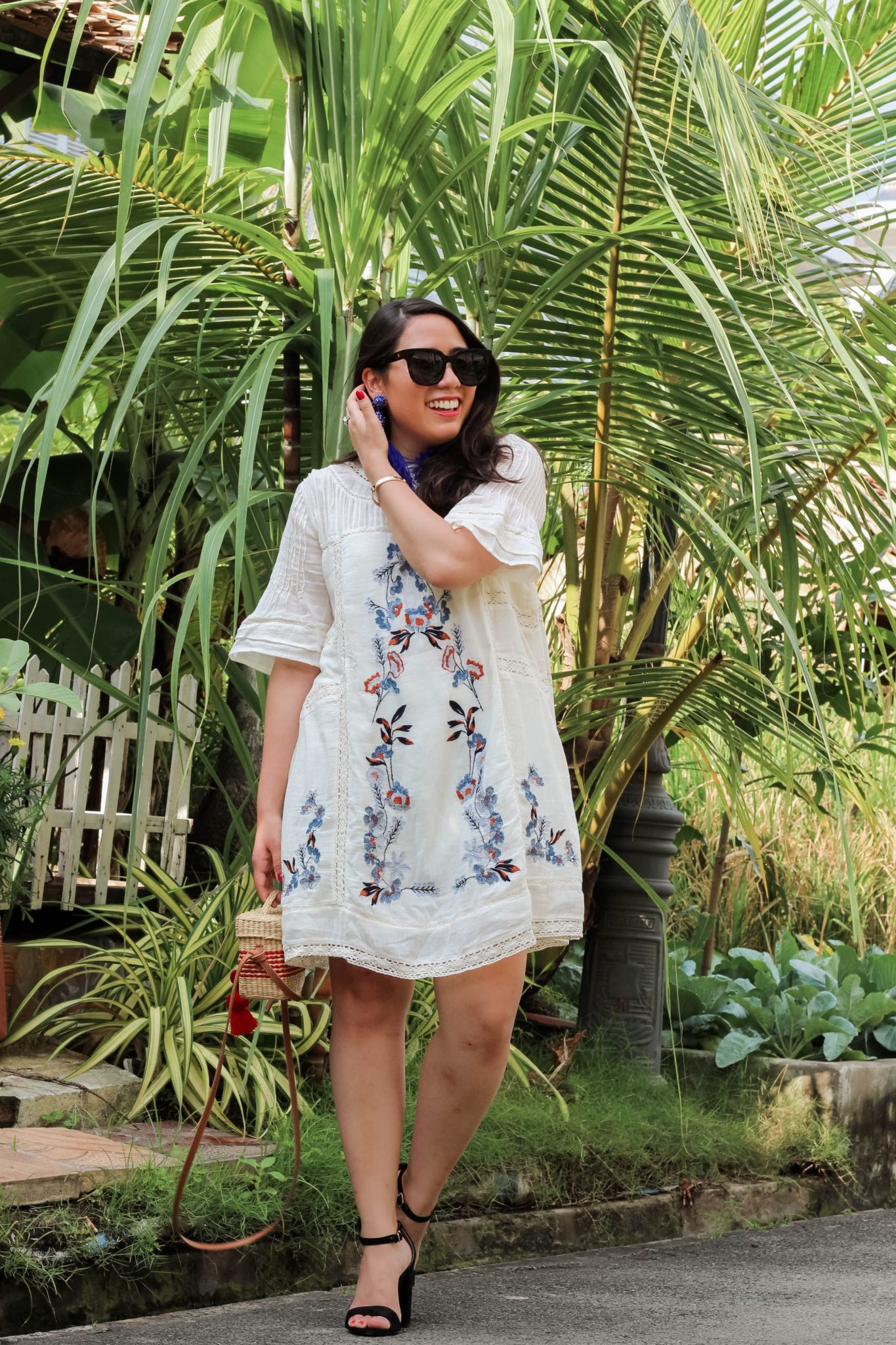 'Perfectly Victorian' Minidress FREE PEOPLE LIVE LAUGH LINDA - A Little White Mini Dress in Paradise by popular New York fashion blogger Live Laugh Linda