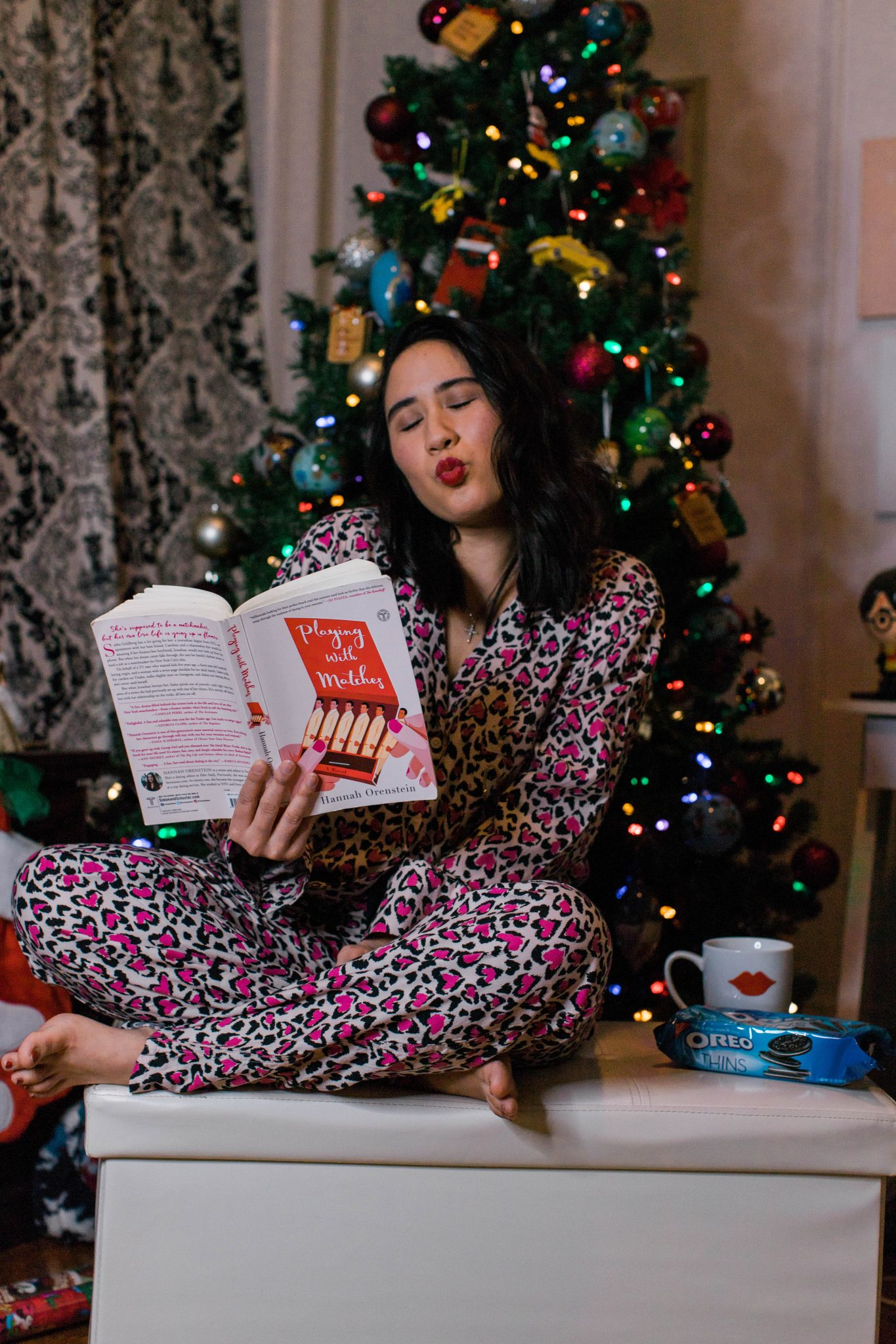 Friday Favorites featured by top US life and style blogger Live Laugh Linda; Image of woman reading a book while reading pajamas.