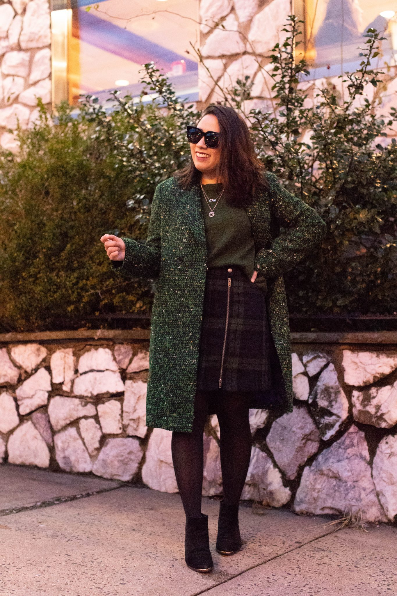 Friday Favorites featured by top US life and style blogger Live Laugh Linda; Image of woman wearing a green coat.