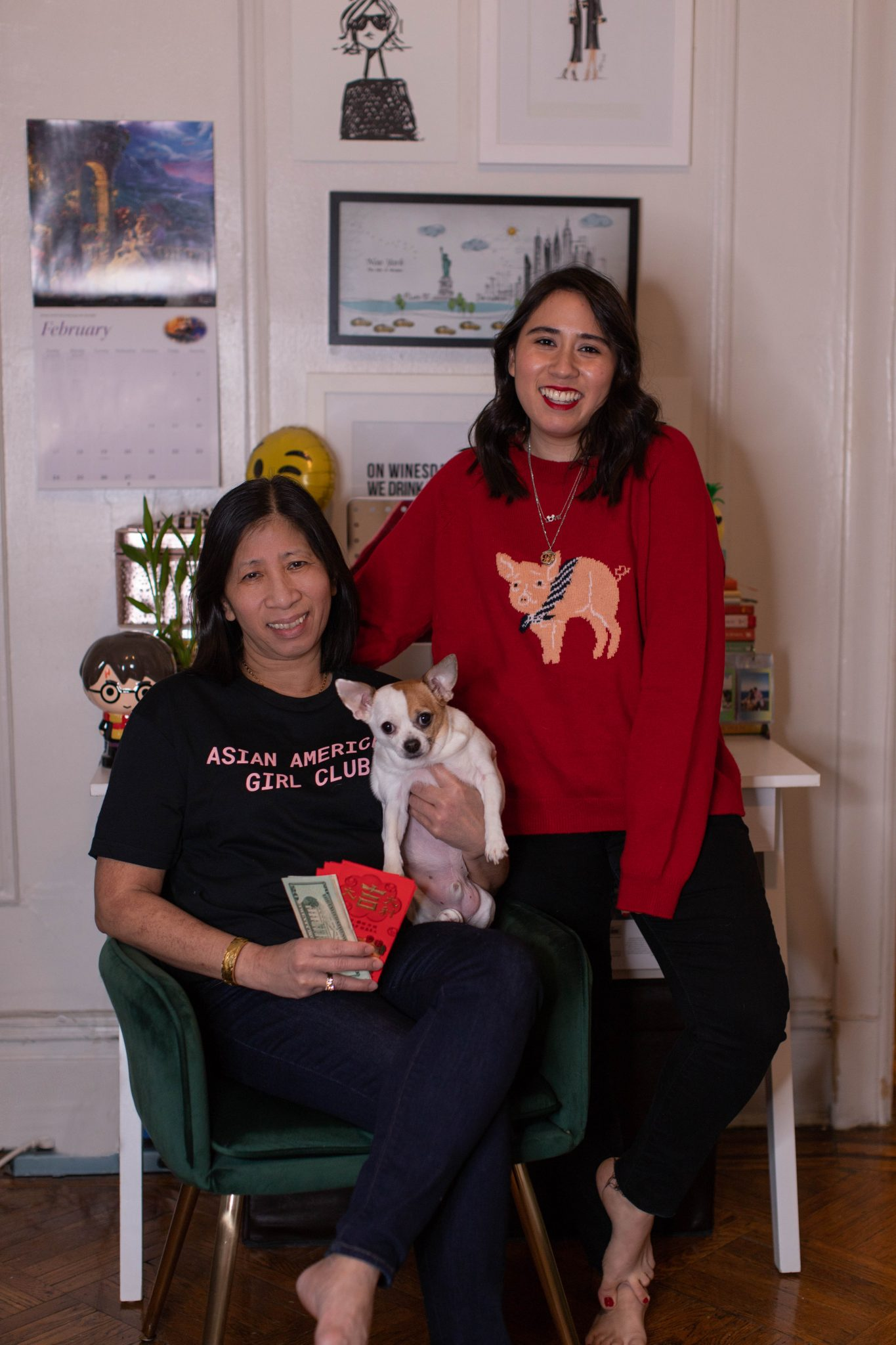My Vietnamese Culture featured by top US life and style blogger, Live Laugh LInda; image of two women holding a dog