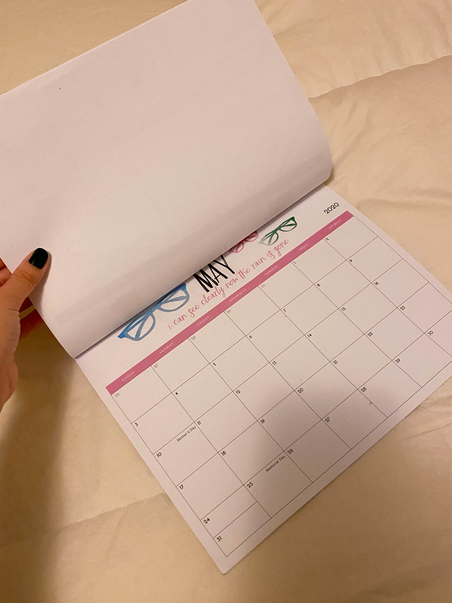 Week In Review :: A Friday Favorites Weekly Roundup by popular New York life and style blog, Live Laugh Linda: image of a 2020 homemade calendar.