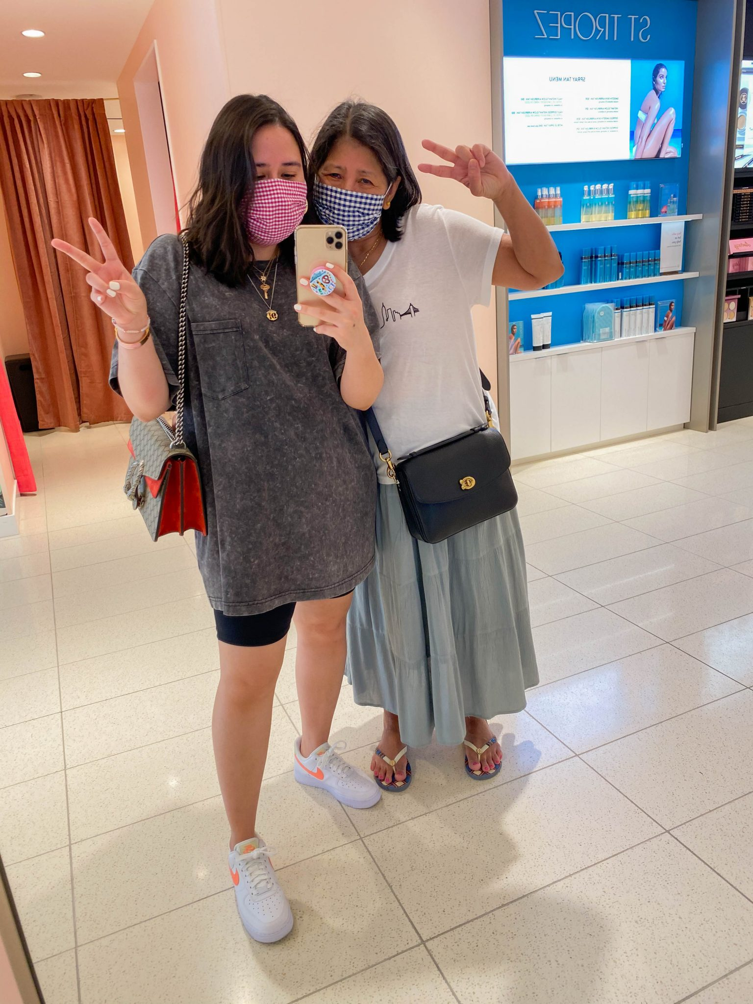 Nordstrom Anniversary Sale 2020 Guide by popular NYC life and style blog, Live Laugh Linda: image of two women in the Nordstrom NYC Flagship store