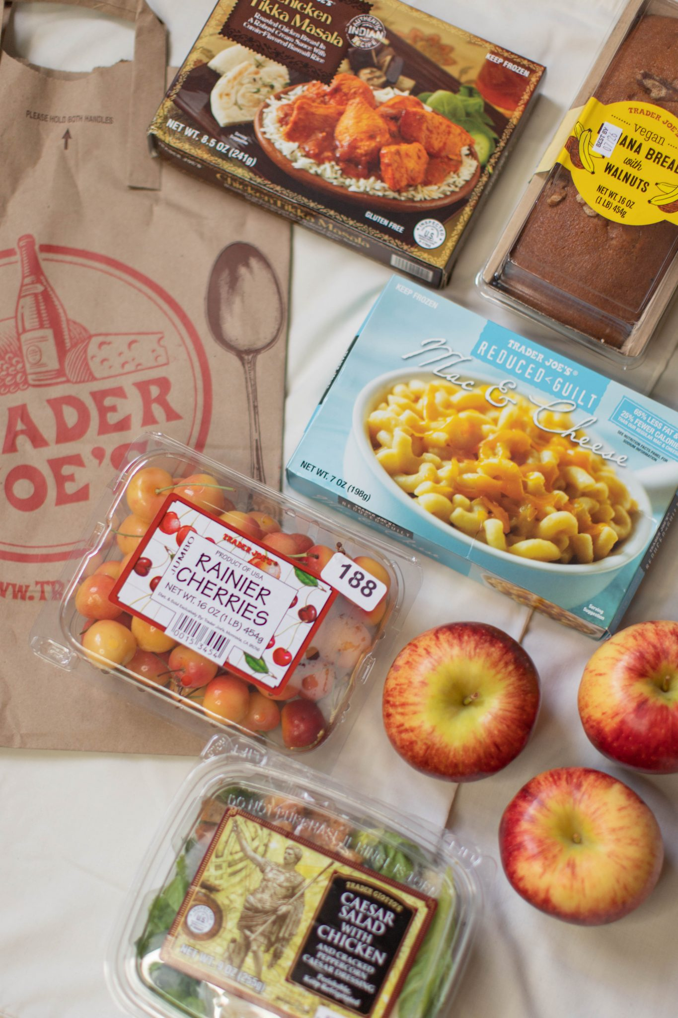 Trader Joe's Must Haves by popular NYC life and style blog, Live Laugh Linda: image of Trader Joe's frozen food, Trader Joe's fruits, Trader Joe's pastries