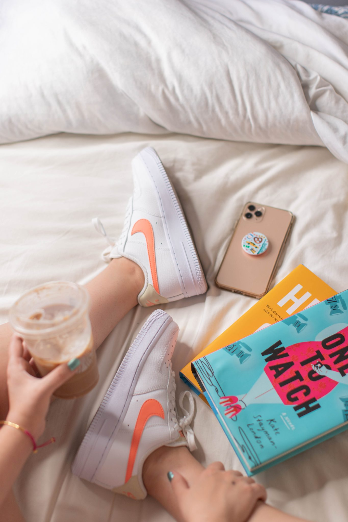 Recent Fashion and Beauty Finds by popular NYC life and style blog, Live Laugh Linda: image of Nike Air Force 1 Women sneakers and One to Watch book by Kate Stayman-London
