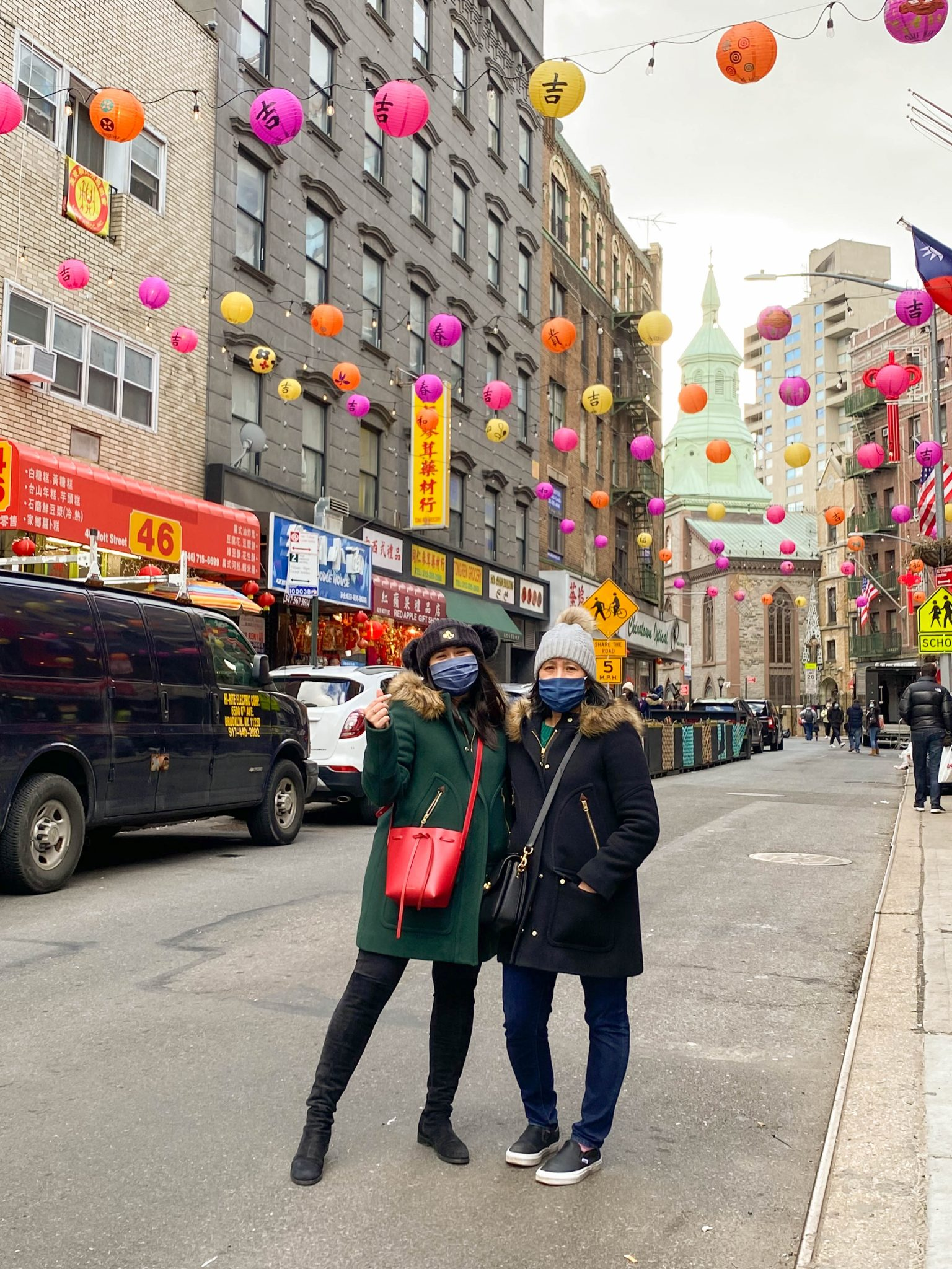 4 Small Businesses to Support in Chinatown NYC by Basically A Mess (image of two women in Chinatown New York City)