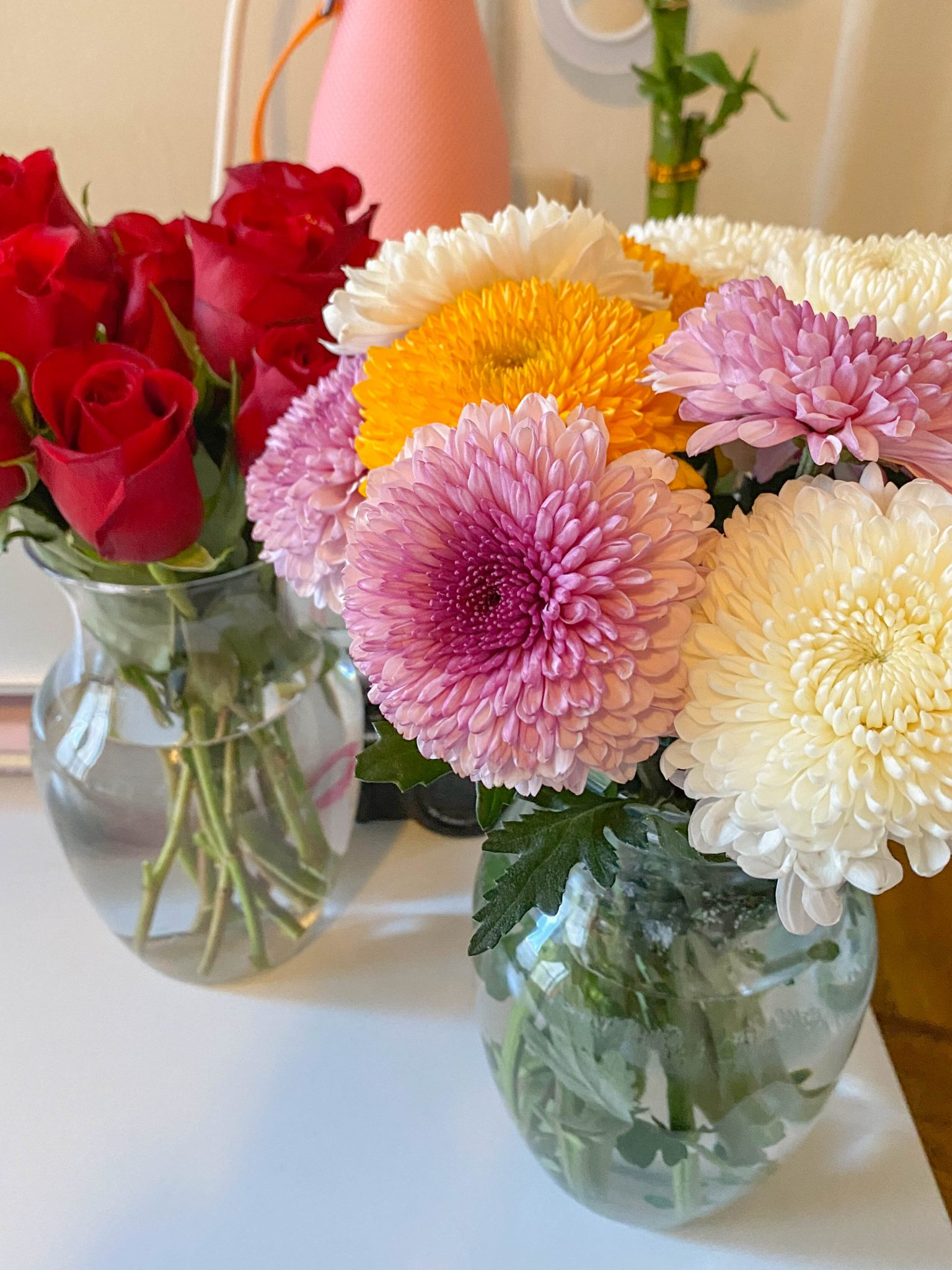 5 Things I'm Currently Loving by Basically A Mess (photo of Trader Joe's Fresh Flowers)
