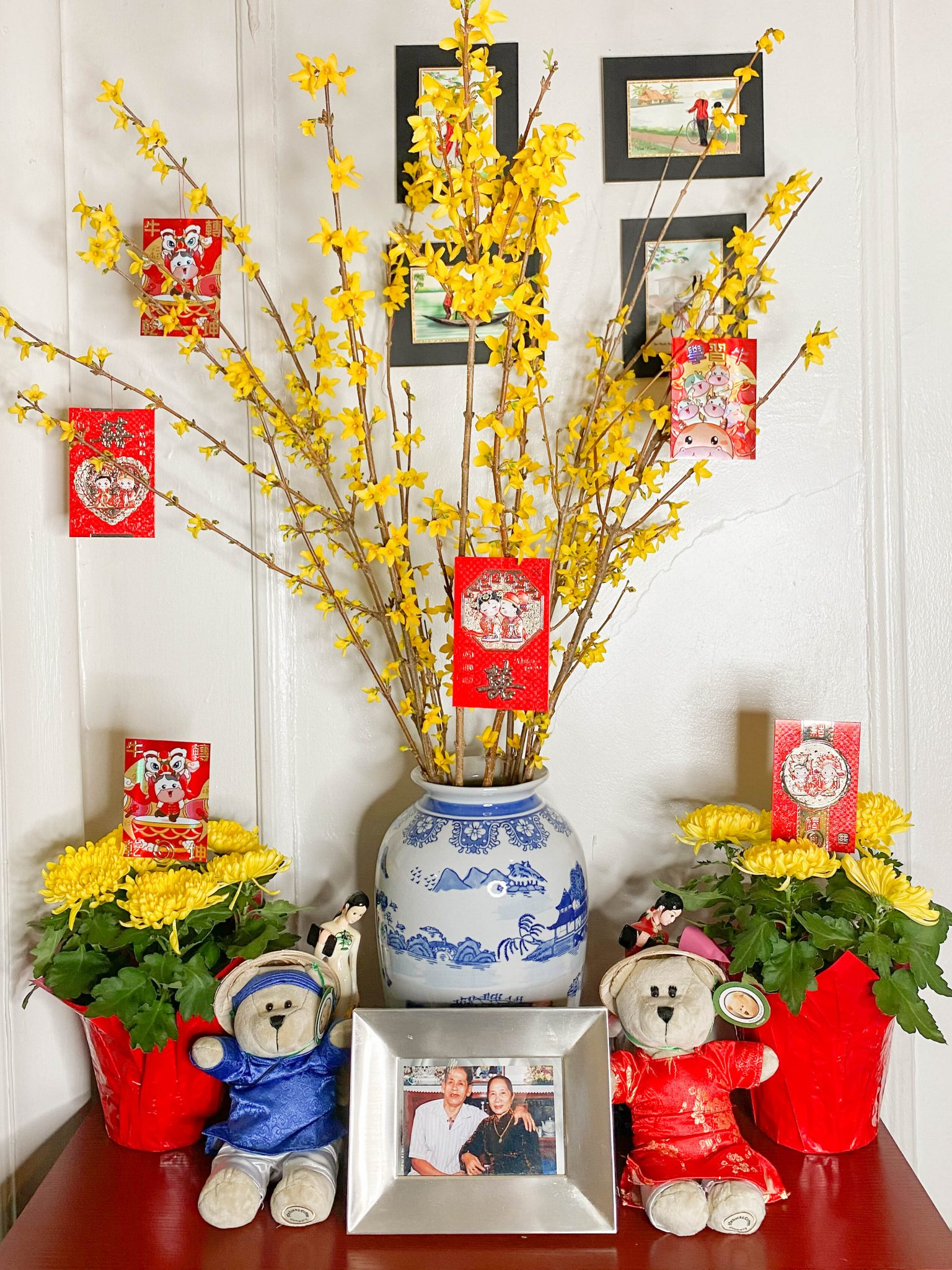 Happy Lunar New Year - Year of the Ox by Basically A Mess (photo of traditional Vietnamese Lunar New Year decorations)