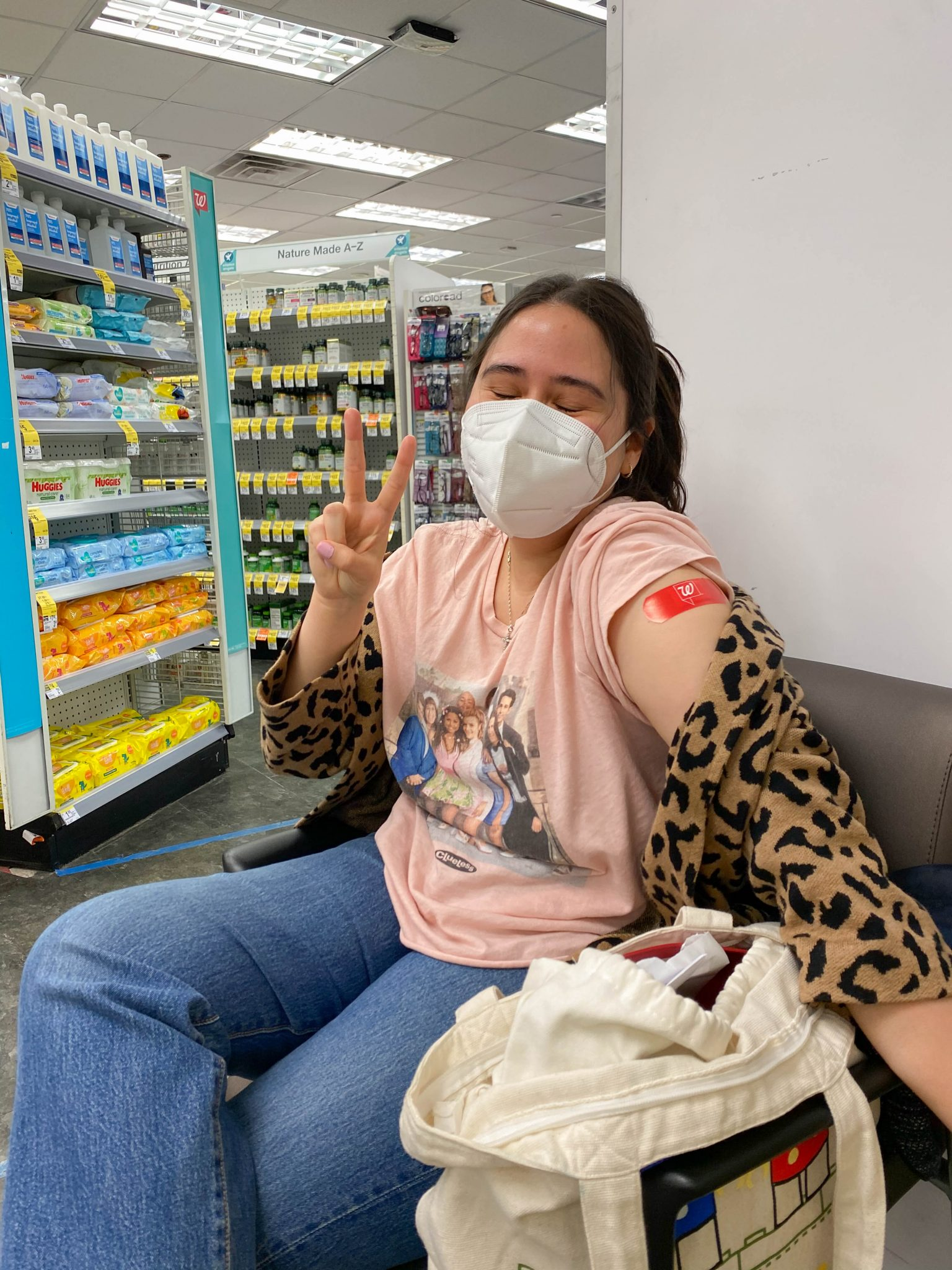 Life Lately July 2021 by Basically A Mess (photo of a woman receiving Covid vaccine)