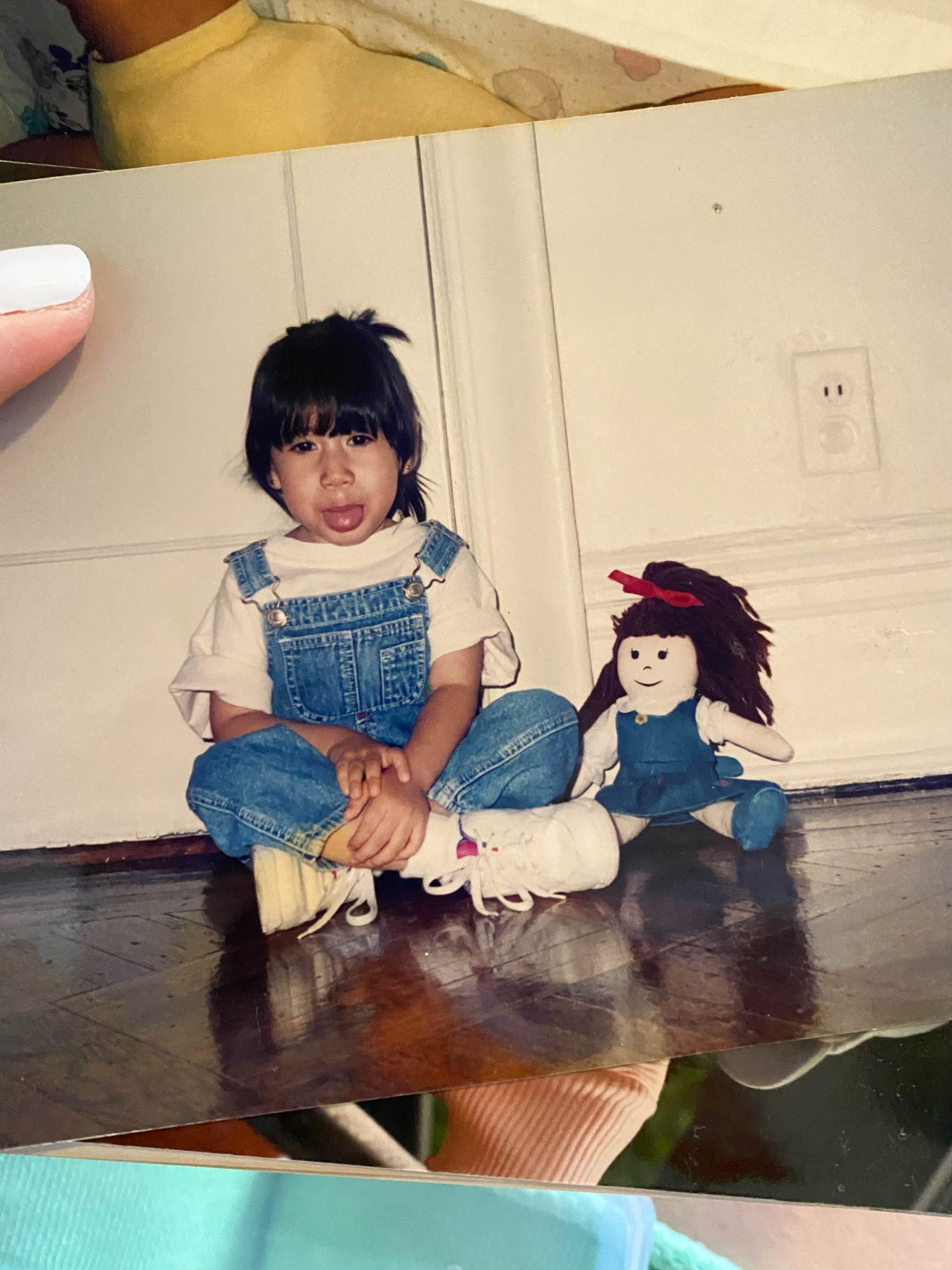 Life Lately July 2021 by Basically A Mess (photo of a little girl in denim overalls)
