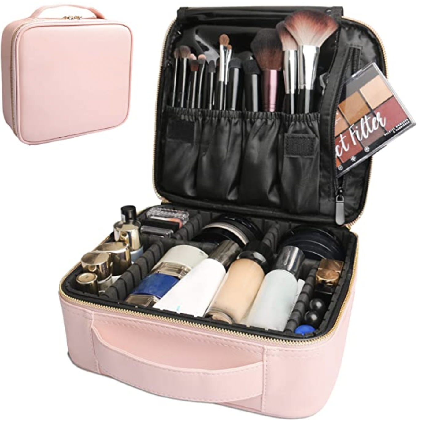 6 Items I've Sold on Poshmark & Why by Basically A Mess (photo of Amazon pink makeup case)