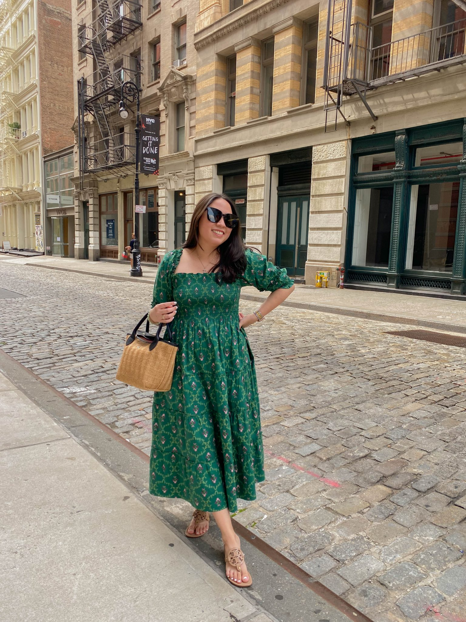 Landing My Dream Job by Basically A Mess (photo of a woman in Soho wearing The Hill House Home Nesli Nap Dress)
