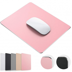 Rose Gold Hard Metal Aluminum Mouse Pad